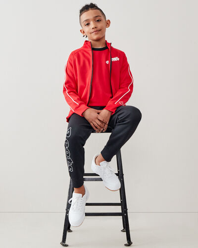 Roots-Kids Tops-Boys Remix Track Jacket-Racing Red-A