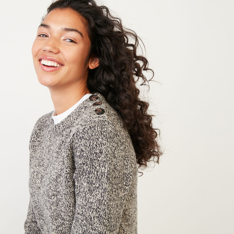 Roots-Women Categories-Roots Cotton Cabin Sweater-Grey Oat Mix-E