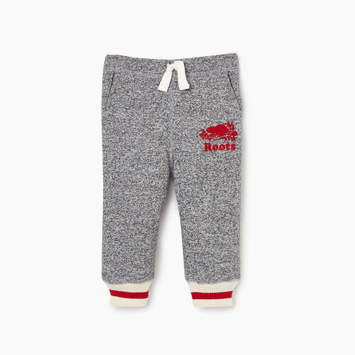 Roots-Kids Bottoms-Baby Roots Cabin Sweatpant-Salt & Pepper-A