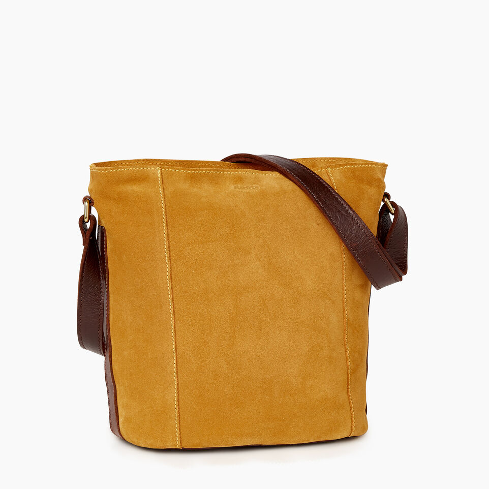 Roots-Leather New Arrivals-Victoria Bucket Suede-Squash Yellow-C