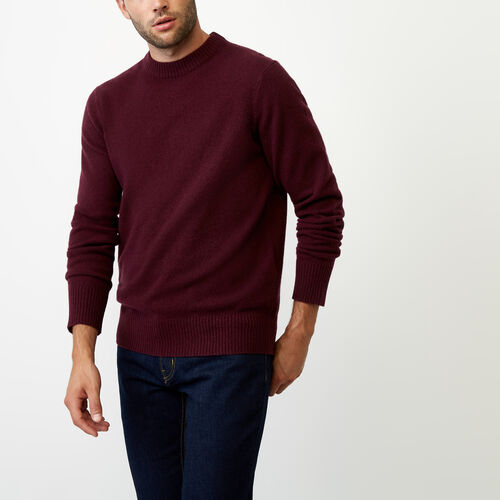 Roots-Winter Sale Men-Budman Merino Sweater-Crimson Mix-A