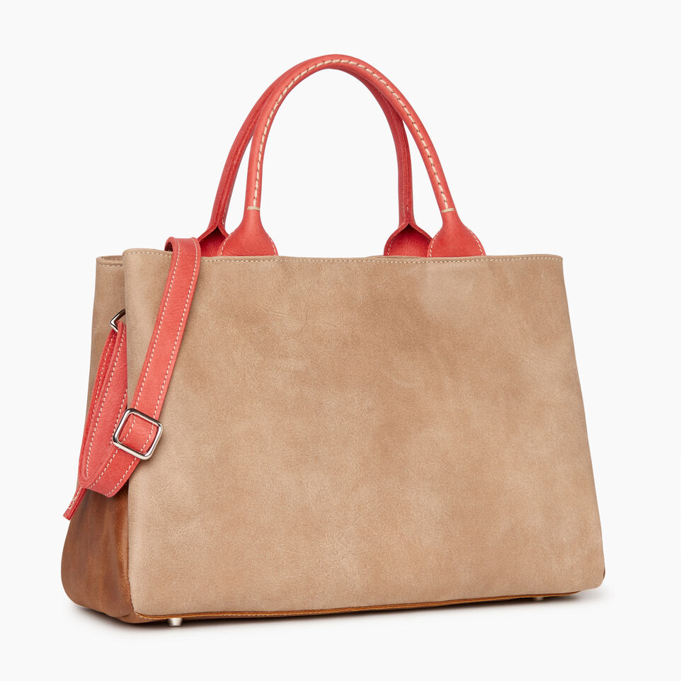 Roots-Leather  Handcrafted By Us Our Favourite New Arrivals-Mont Royal Bag - Colour Block-Coral-C