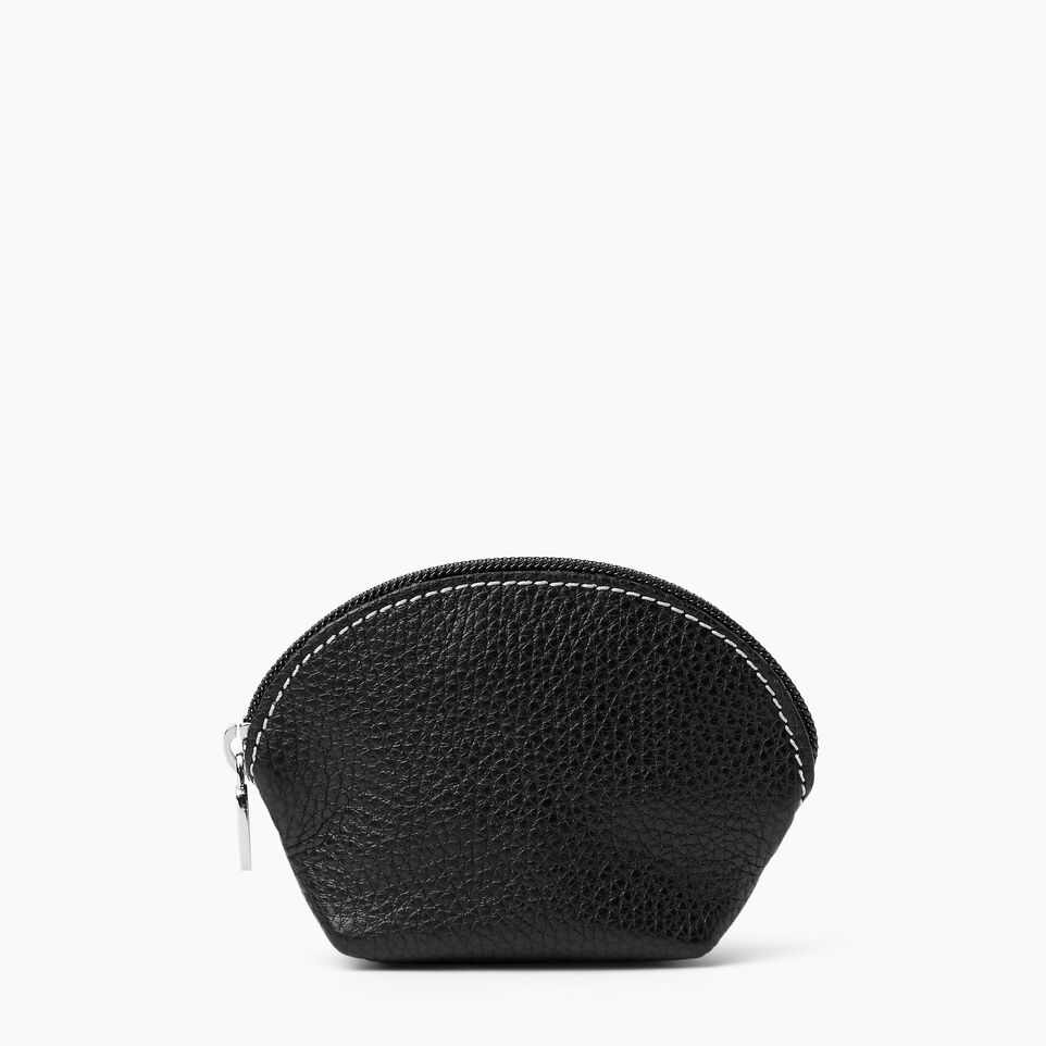 Roots-Women Leather Accessories-Small Euro Pouch-Black-A