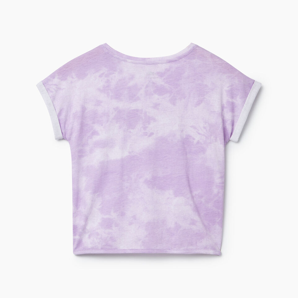 Roots-Kids New Arrivals-Girls Tie T-shirt-African Violet-C