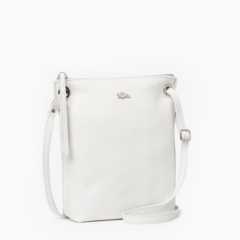 Roots-Leather  Handcrafted By Us Our Favourite New Arrivals-Festival Bag-White-A