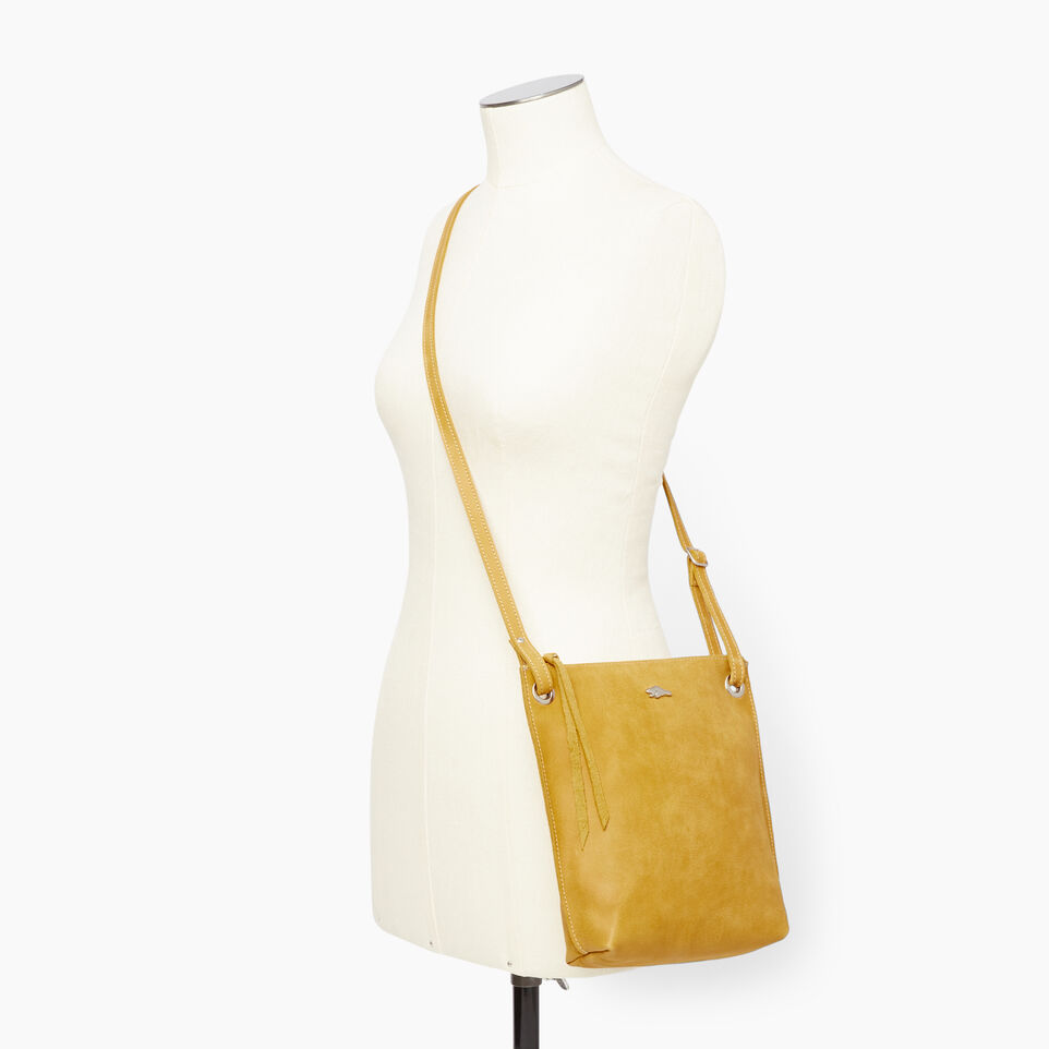 Roots-Leather  Handcrafted By Us Handbags-Festival Bag Tribe-Squash Yellow-B