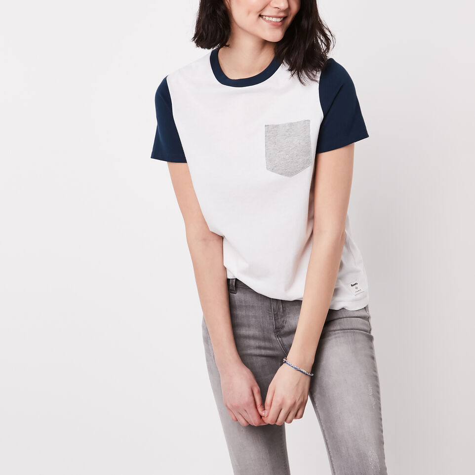 Roots-undefined-Colour Blocked T-shirt-undefined-A