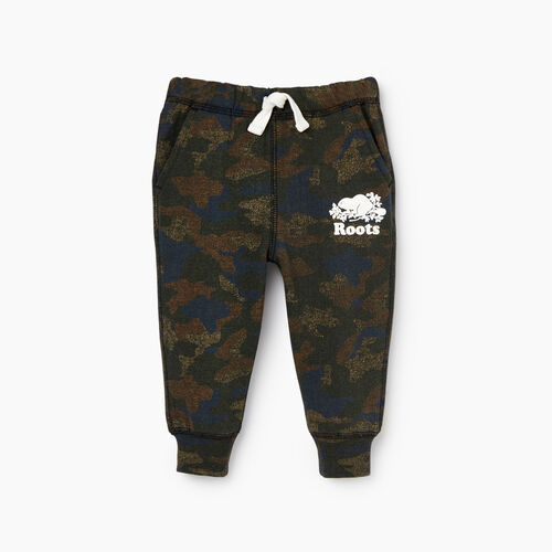 Roots-Kids Our Favourite New Arrivals-Baby Park Slim Sweatpant-Camo Print-A