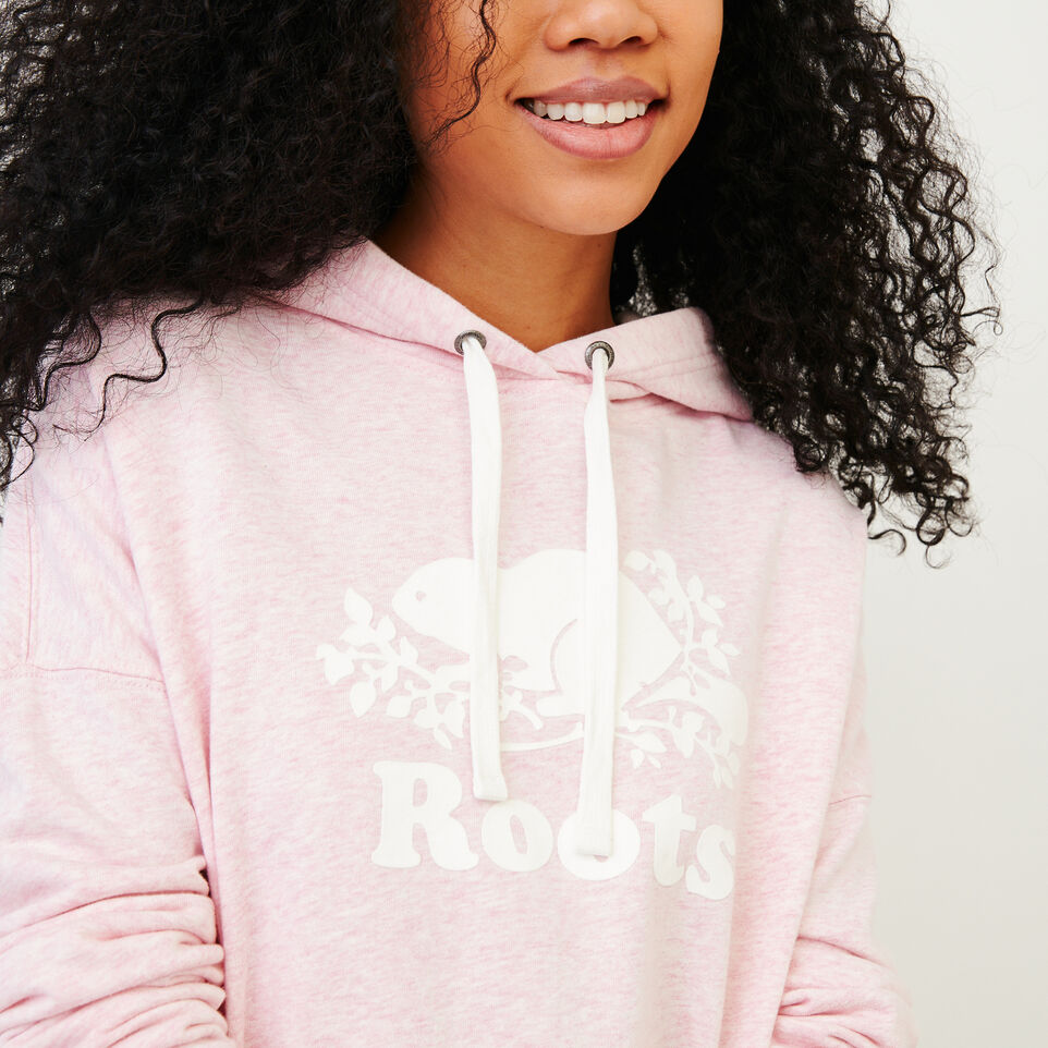 Roots-Women Our Favourite New Arrivals-Melange Terry Hoody-Pink Mist Mixpink-D