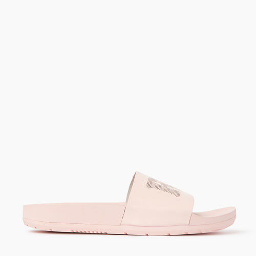 Roots-Women Footwear-Womens Long Beach Pool Slide-Pink Cloud-A