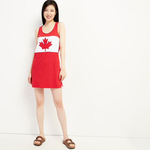 Roots-Women New Arrivals-Blazon Jersey Dress-Sage Red-A