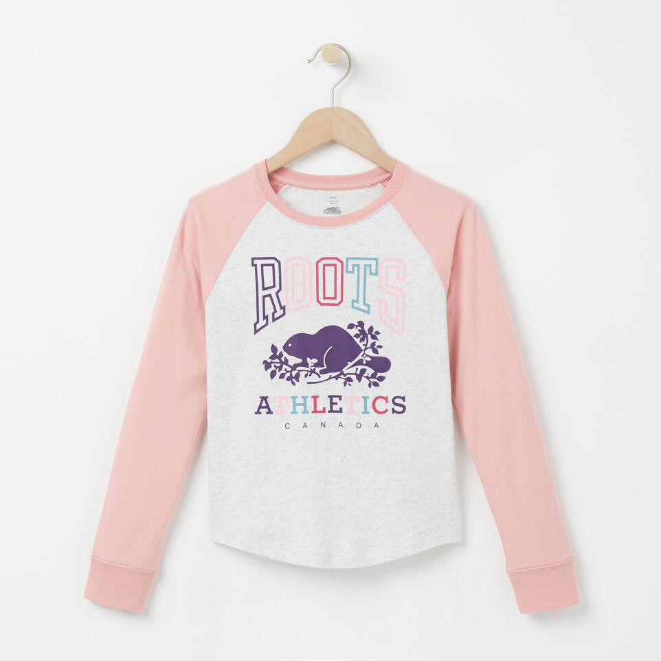 Roots-undefined-Girls Sofie Rba Raglan Top-undefined-A