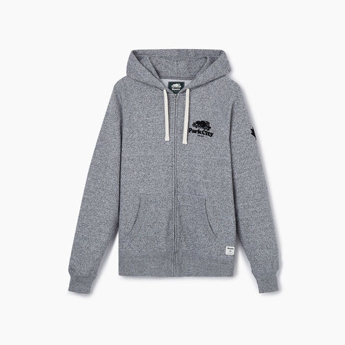 Roots-New For May City Collection-Park City Full Zip Hoody - Mens-Salt & Pepper-A