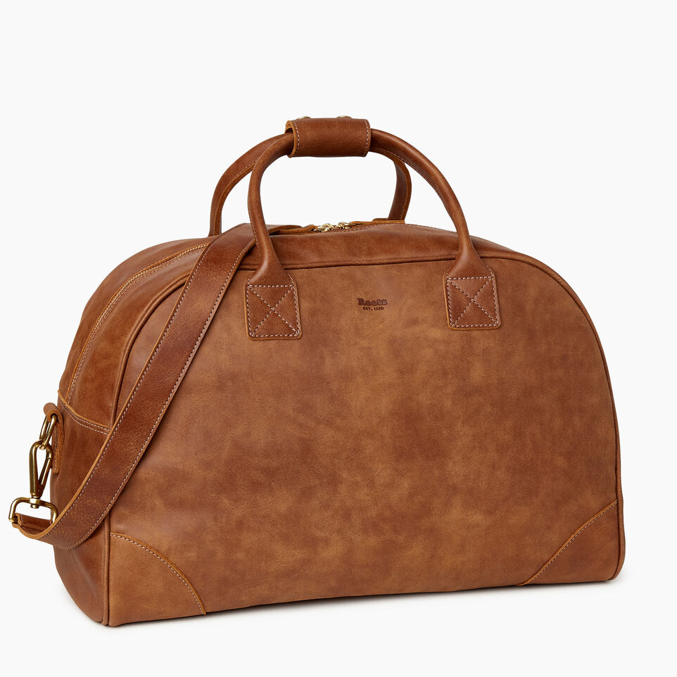 Roots-Leather Our Favourite New Arrivals-Jasper Gym Bag-Natural-C