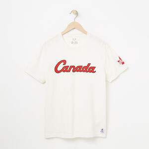Roots-Men Canada Collection By Roots™-Mens Canada Script T-shirt-Pristine White-A
