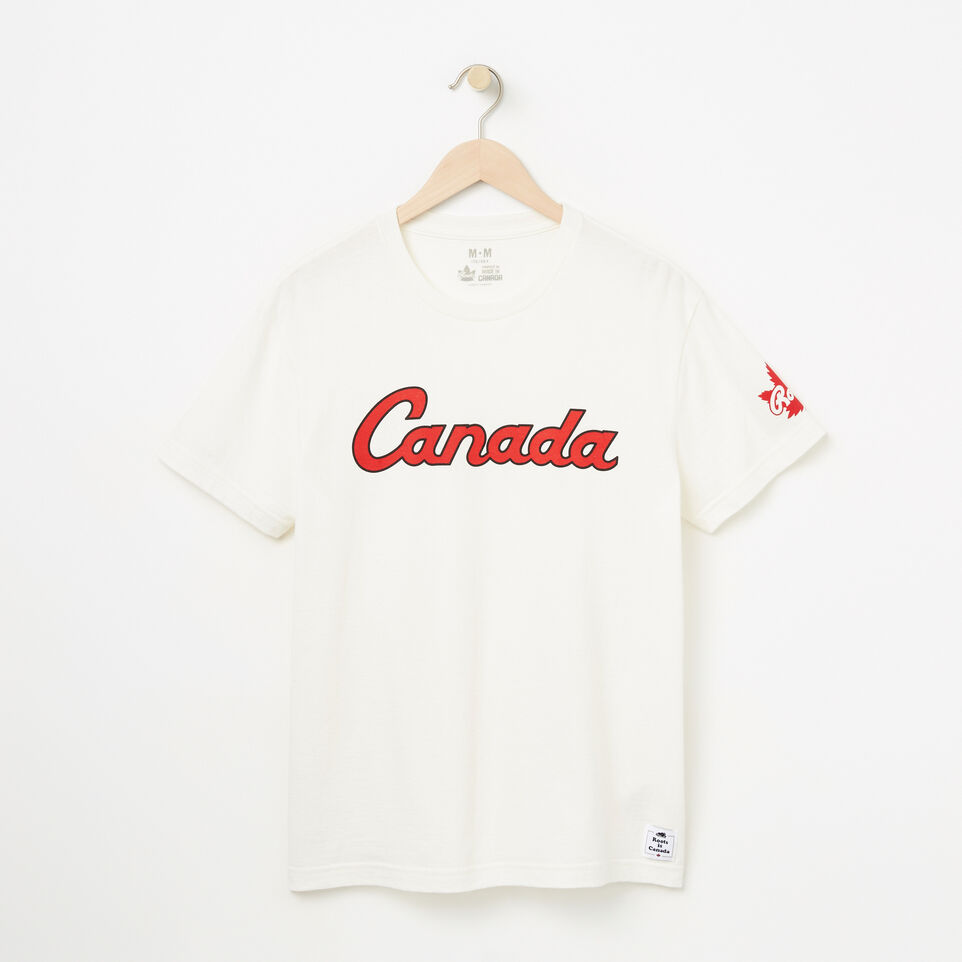 Roots-Mens Canada Script T-shirt