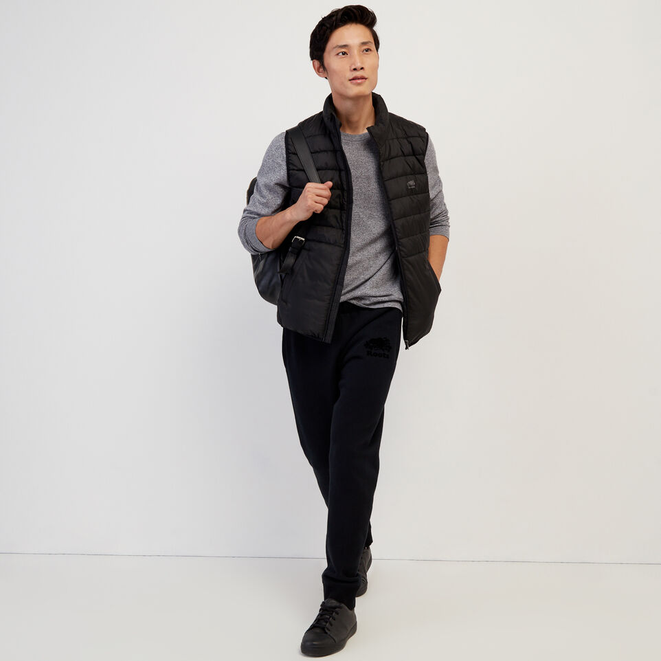 Roots-New For February Journey Collection-Journey Hybrid Vest-Black-B
