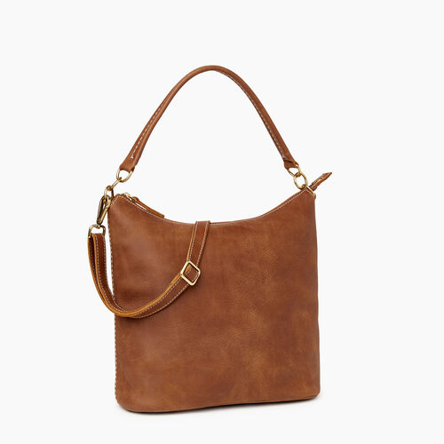 Roots-Leather Shoulder Bags-Ella Bag-Natural-A
