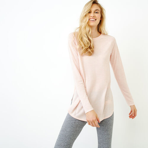 Roots-Women Tops-New Jules Top-Silver Pink Mix-A