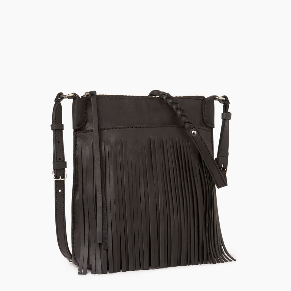 Roots-Leather  Handcrafted By Us Our Favourite New Arrivals-The Hippy Bag-Jet Black-A
