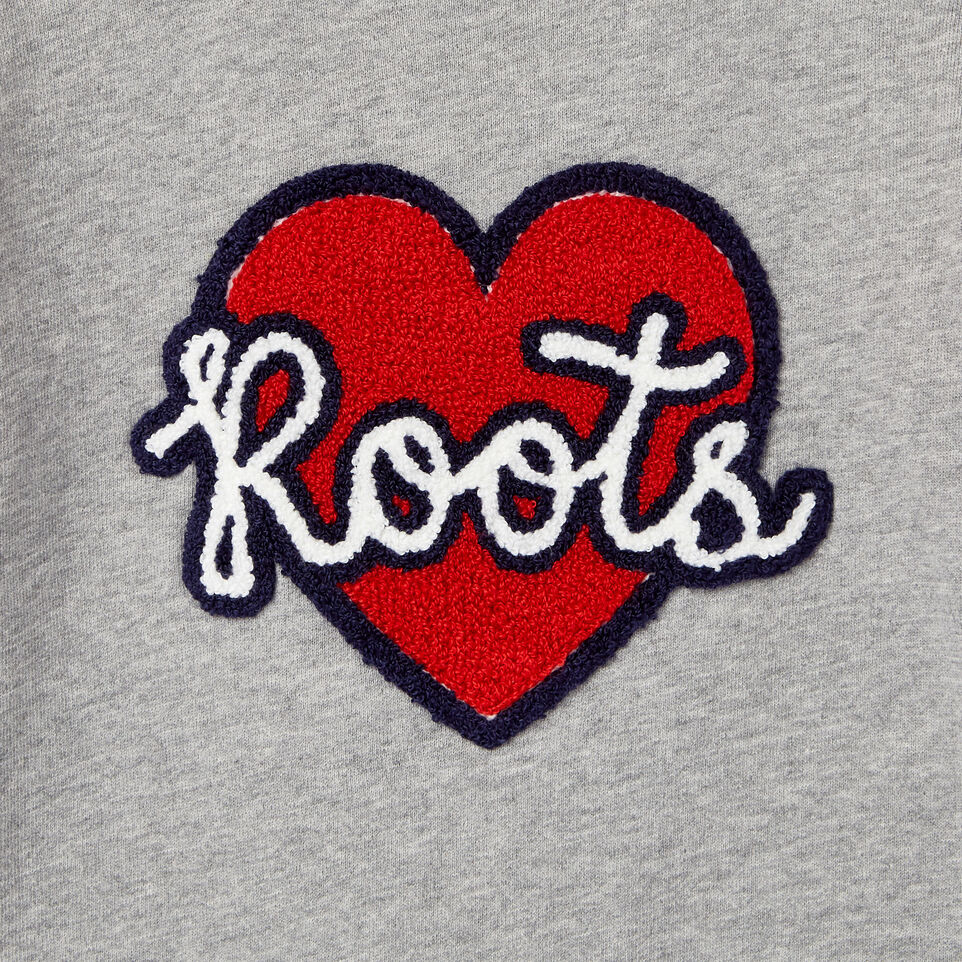 Roots-Kids Our Favourite New Arrivals-Girls Heart Patch Sweatshirt-Grey Mix-D