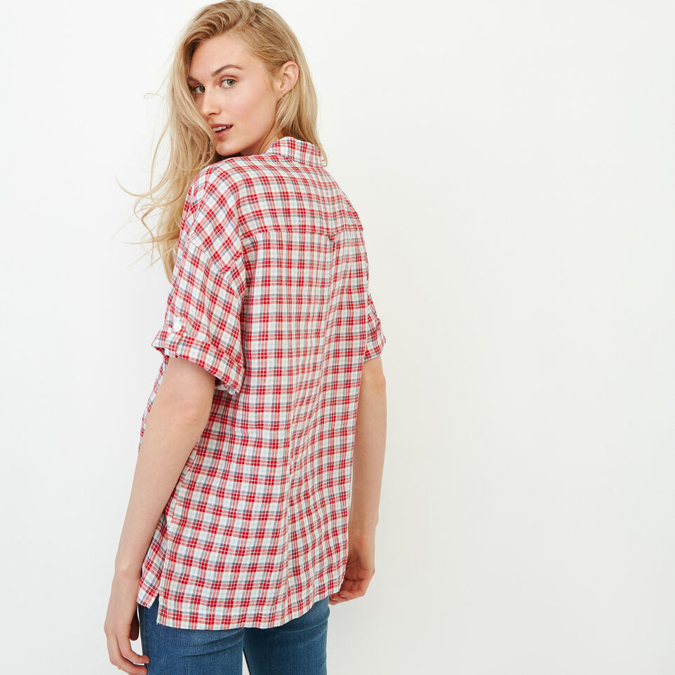 Roots-Women Our Favourite New Arrivals-Rivieres Popover Shirt-Racing Red-E