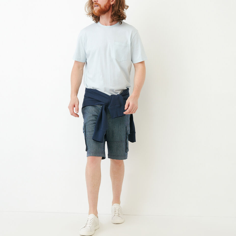 Roots-Men Our Favourite New Arrivals-Essential Pocket T-shirt-Baby Blue-B
