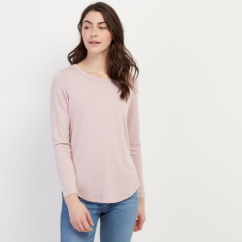 Roots-Women Tops-Cayley Top-Burnished Lilac-A