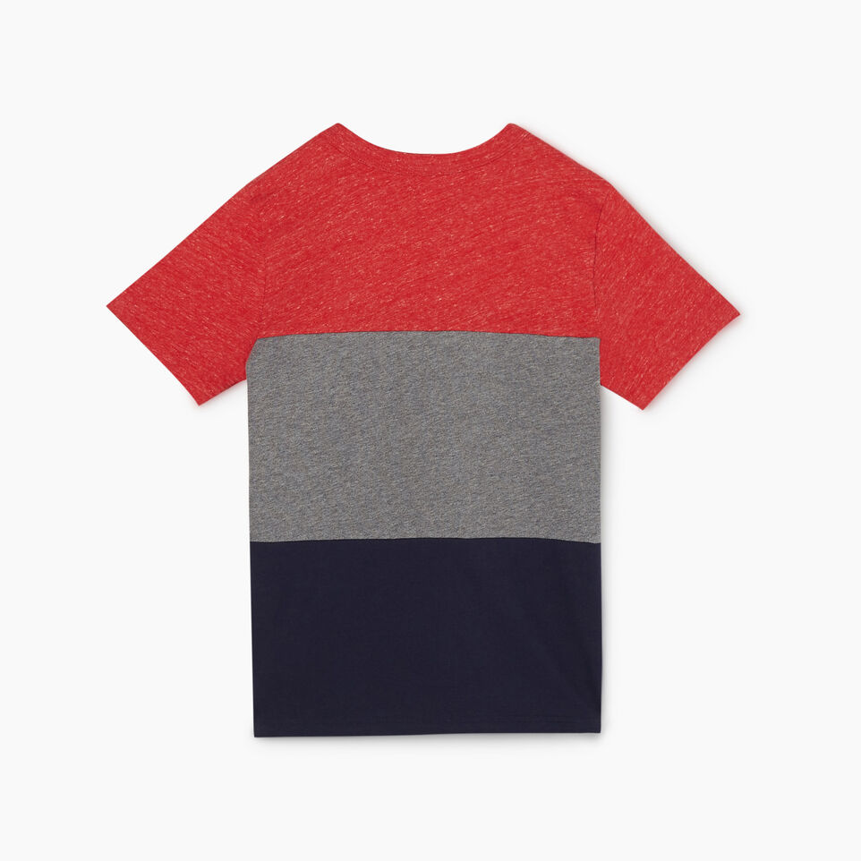 Roots-undefined-Boys Colourblock T-Shirt-undefined-B
