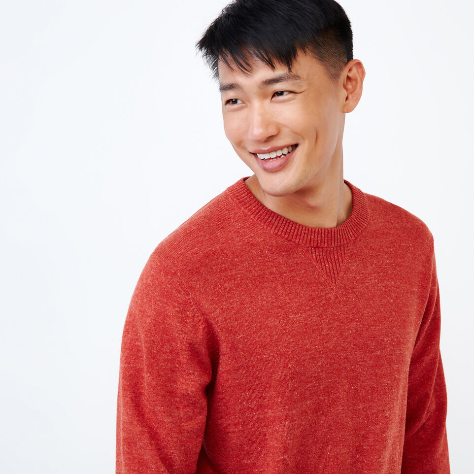 Roots-Men Our Favourite New Arrivals-All Seasons Crew Sweater-Tent Red Mix-E