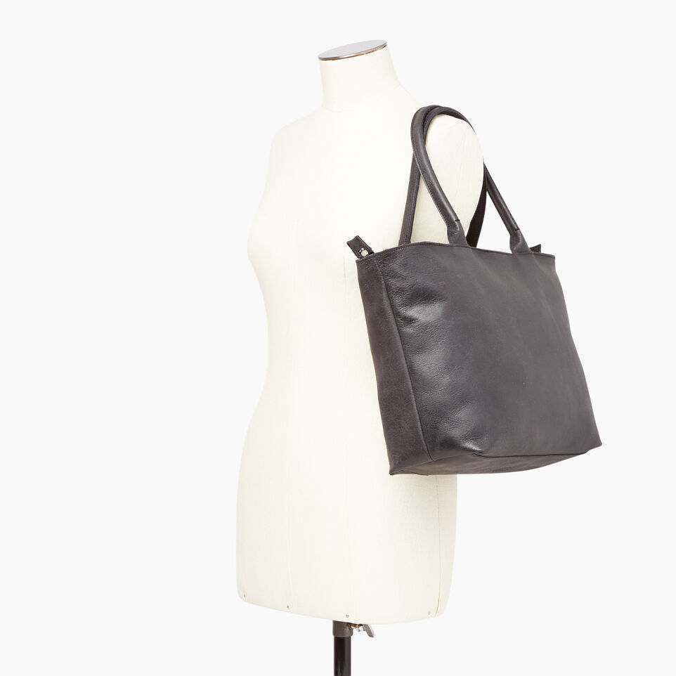 Roots-Leather  Handcrafted By Us Our Favourite New Arrivals-Mont Royal Tote-undefined-B
