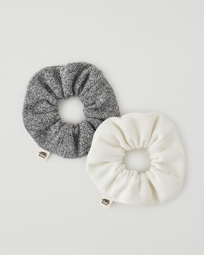 Roots-Women Hats-Everyday Scrunchie 2 Pack-Egret-A