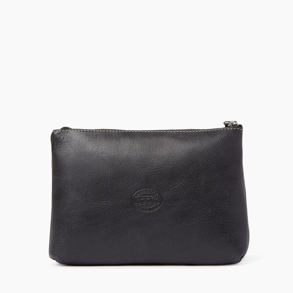 Roots-Leather  Handcrafted By Us Our Favourite New Arrivals-Carrier Pouch-Jet Black-B