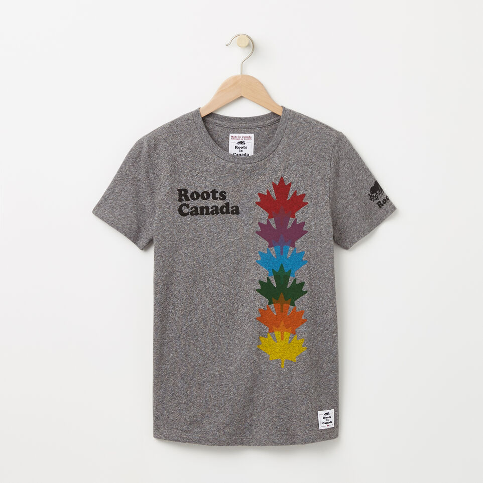Roots-undefined-Womens Leaf Colour Stack T-shirt-undefined-A