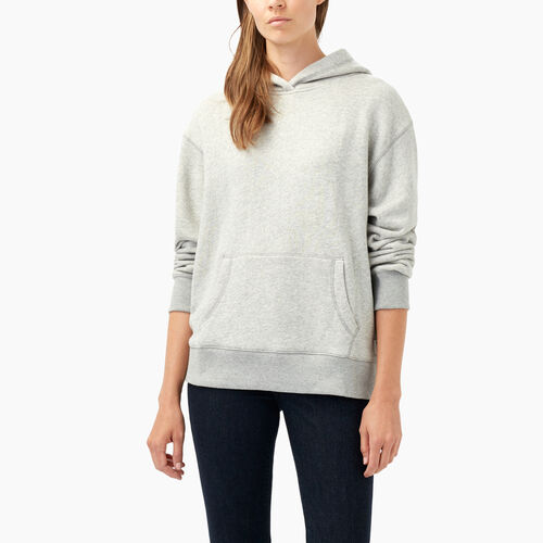 Roots-Women Sweats-Georgina Terry Sweat Hoody-Grey Mix-A