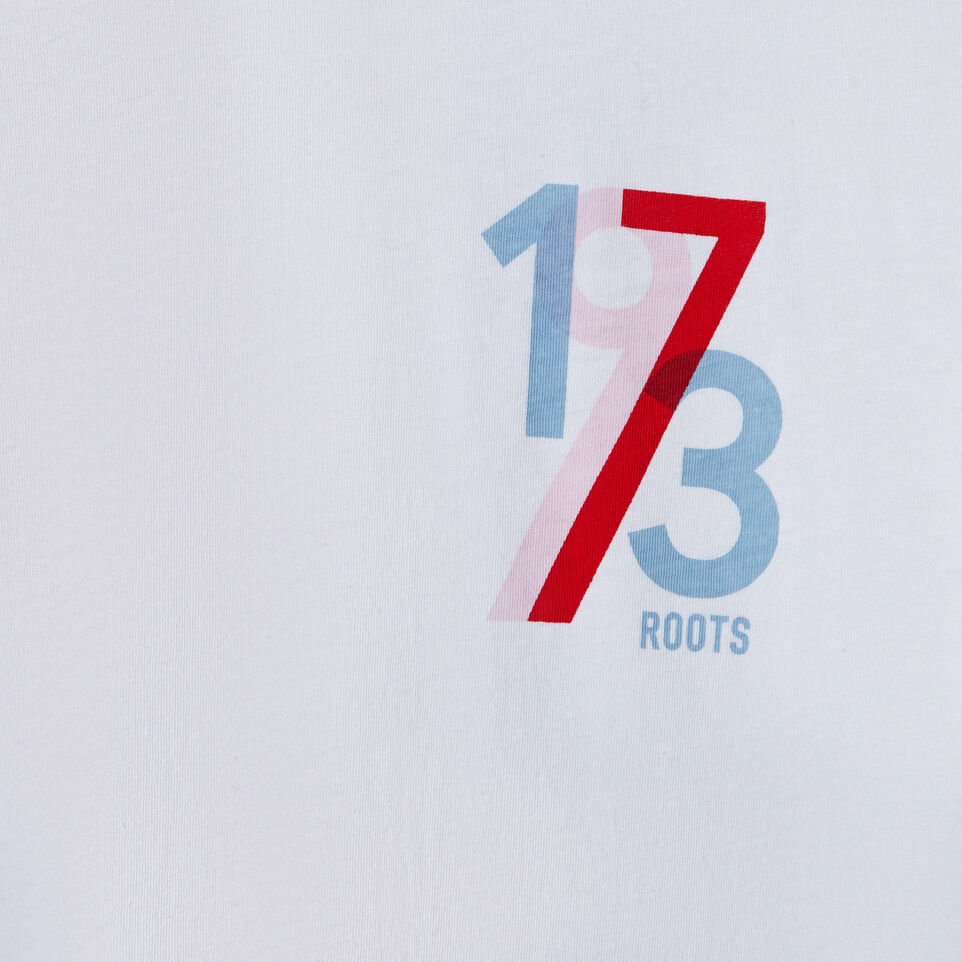 Roots-New For July Daily Offer-Womens 1973 T-shirt-Crisp White-D