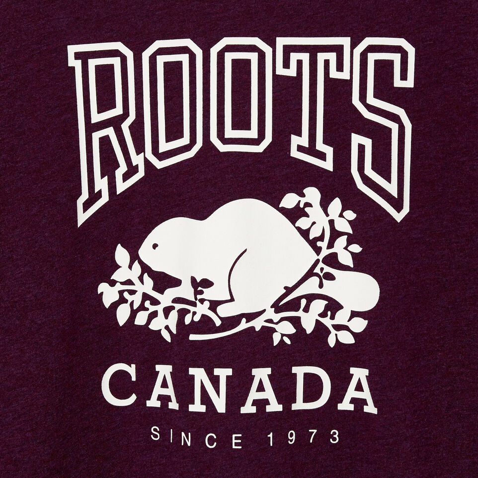 Roots-Women Clothing-Womens Classic Roots Canada T-shirt-Pickled Beet Mix-D