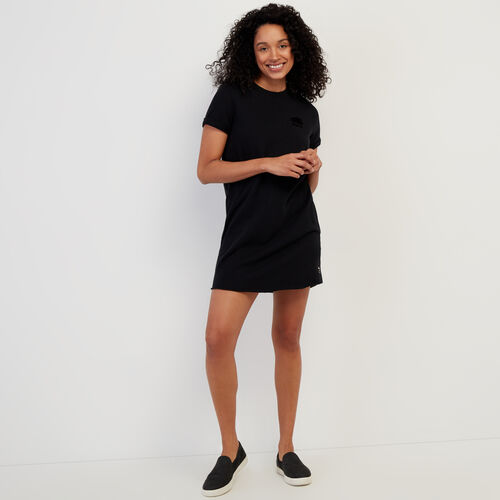 Roots-Women Clothing-Edith Cuffed Dress-Black-A