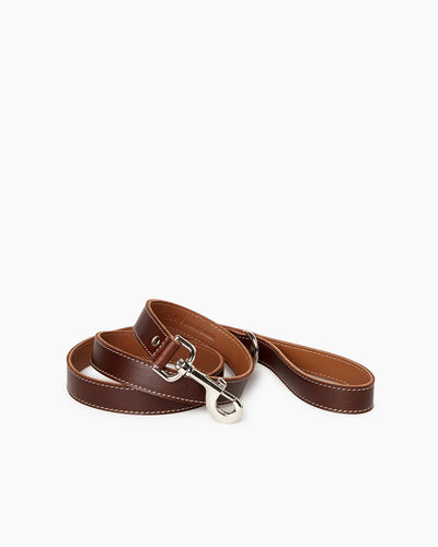 Roots-New For March Dog Accessories-Leather Dog Leash-Chocolate-A