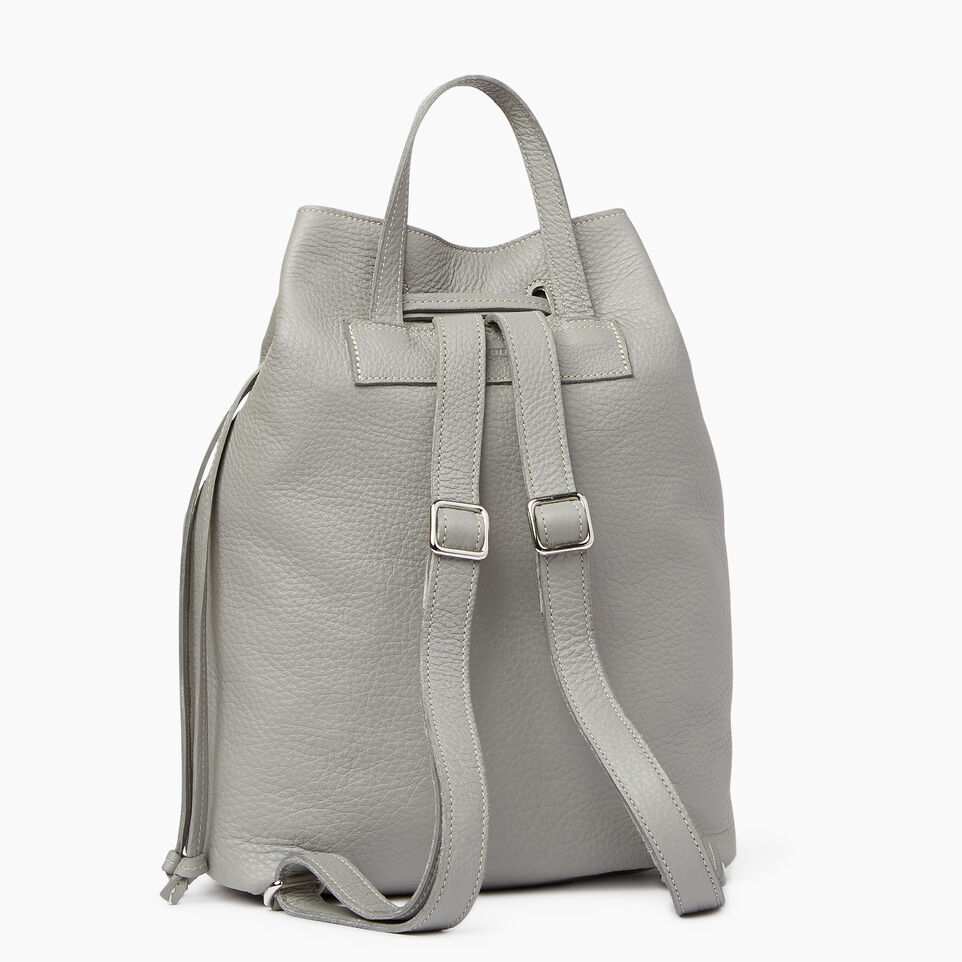 Roots-Leather  Handcrafted By Us Categories-Sherbrooke Backpack-Silverstone-C