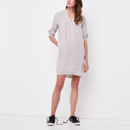 Roots-Women Dresses-Mabel Dress-Birch White-A