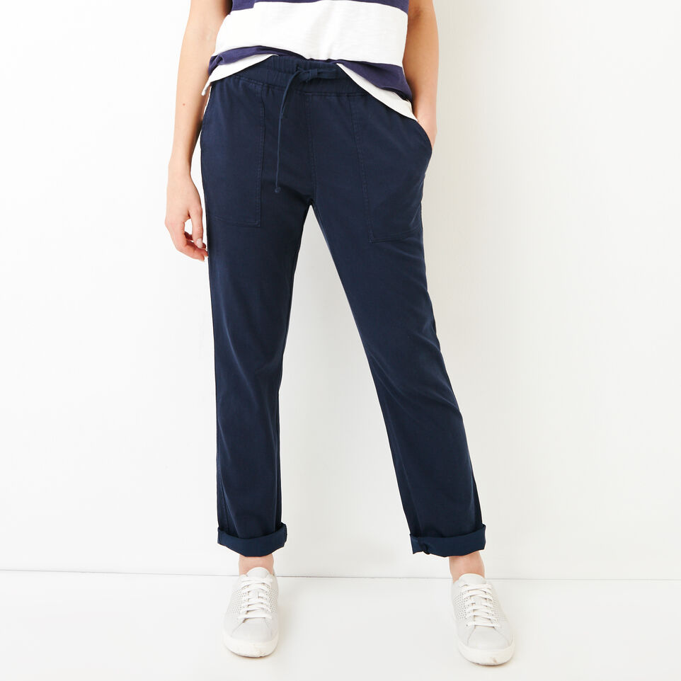 Roots-Women Categories-Essential Pant-Navy Blazer-A