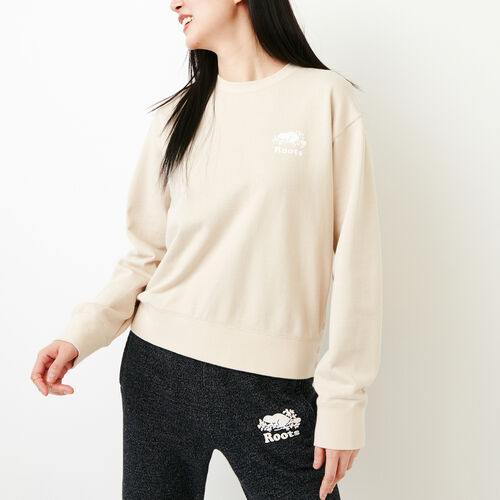 Roots-New For March Sweats-Side Snap Crew Sweatshirt-Turtle Dove-A