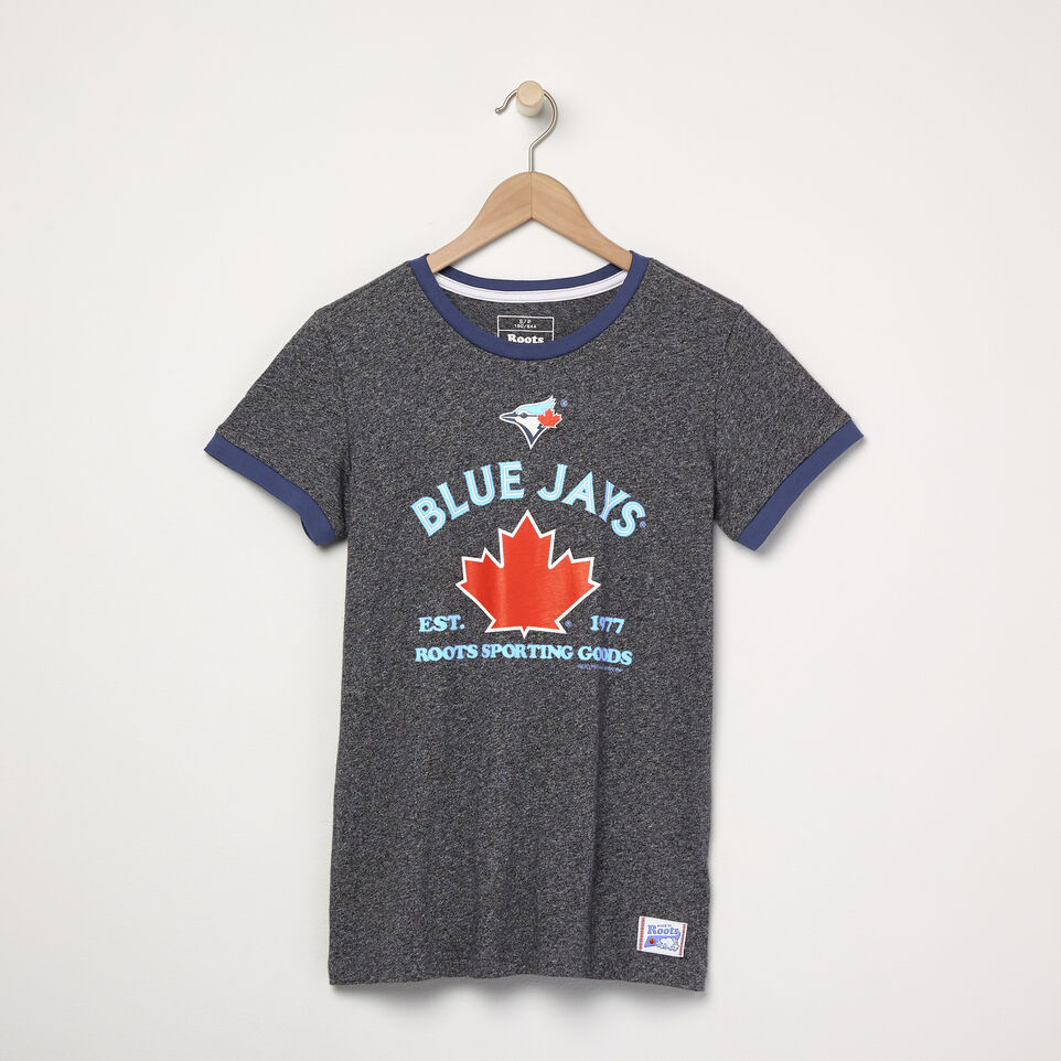 Roots-undefined-Womens Blue Jays Ballpark Ringer T-shirt-undefined-A