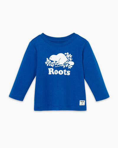 Roots-Sale Baby-Baby Original Cooper Beaver T-shirt-Classic Blue-A