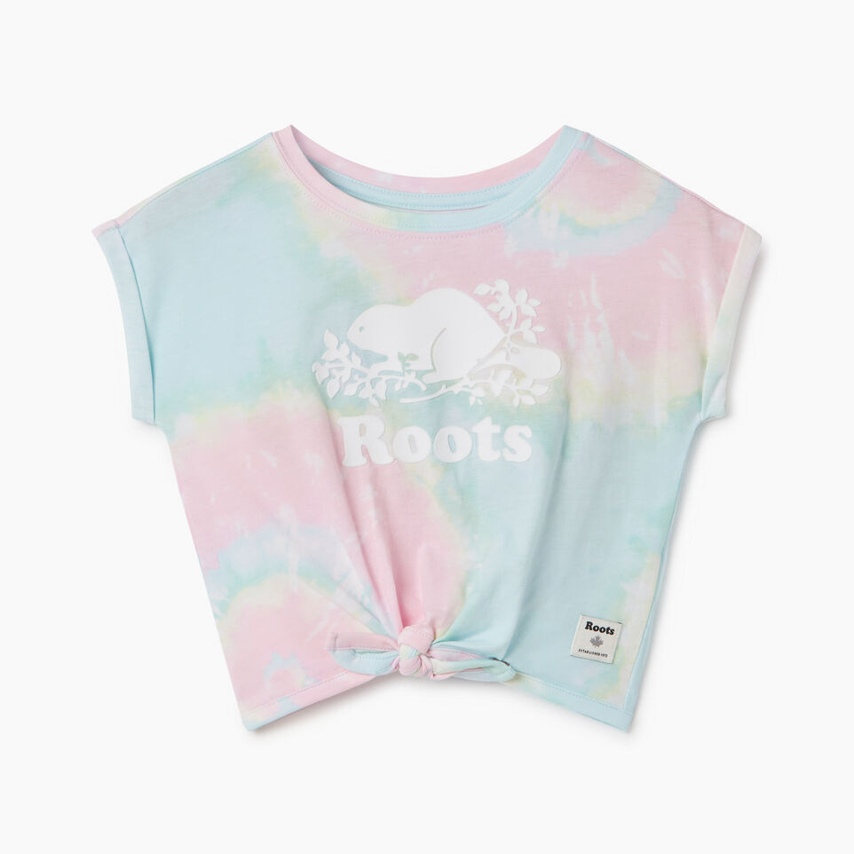 Roots-Kids New Arrivals-Baby Tie T-shirt-Multi-A