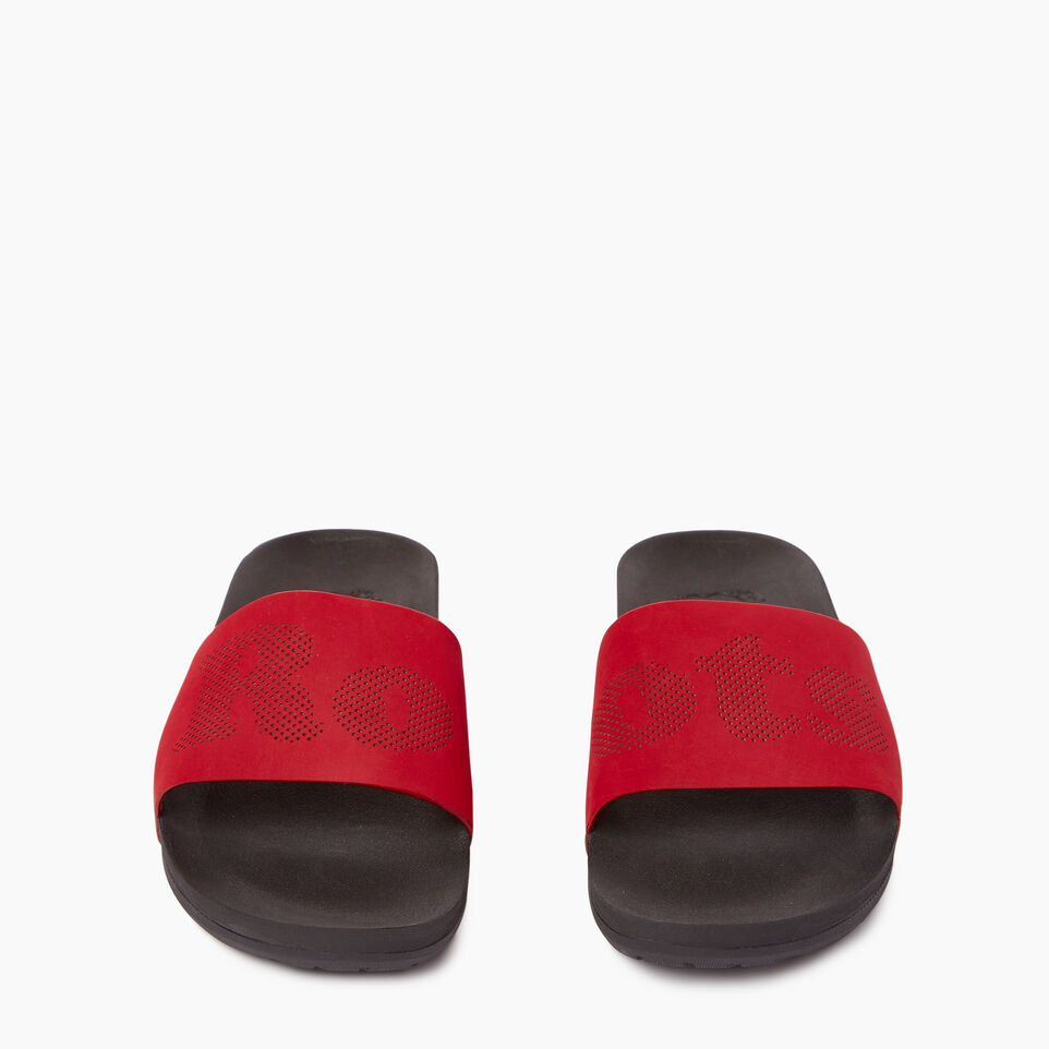 Roots-Footwear Our Favourite New Arrivals-Mens Long Beach Pool Slide-Chili Pepper-D