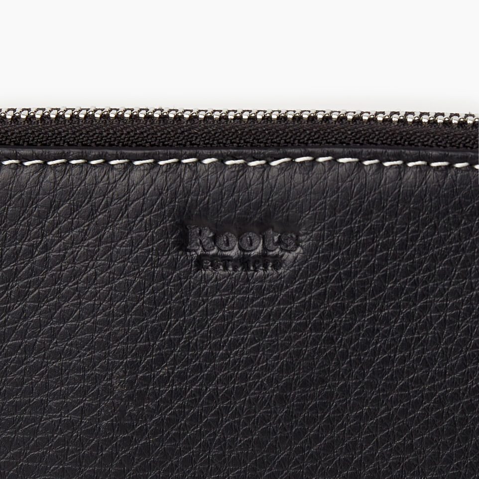 Roots-Leather Our Favourite New Arrivals-Zip Around Clutch-Black-C