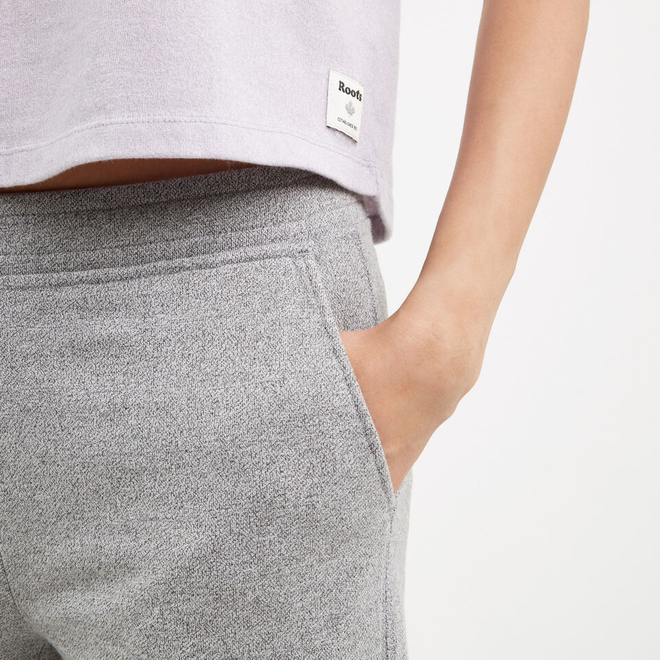 Roots-Winter Sale Women-Mabel Lake Culotte Sweatpant-Salt & Pepper-C