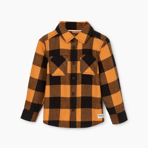Roots-Kids Categories-Toddler Park Plaid Shirt-Squash Yellow-A